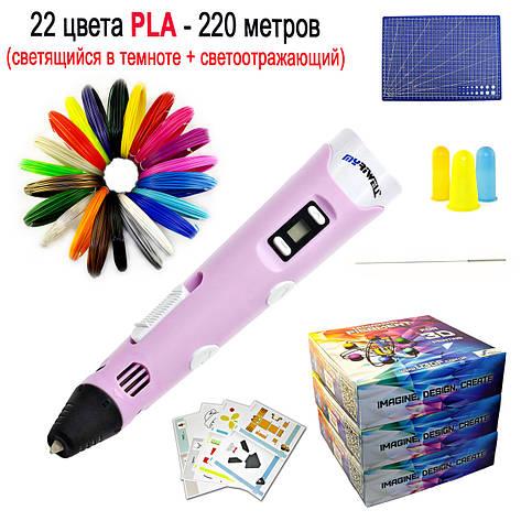 "Набор ""MYRIWELL 2 RP-100B VIP"" с розовой 3D ручкой, фото 2"