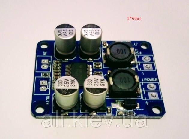 Усилитель звука Моно TPA3118 60 Вт плата модуль DC 8-26В Для сабов и портативных колонок