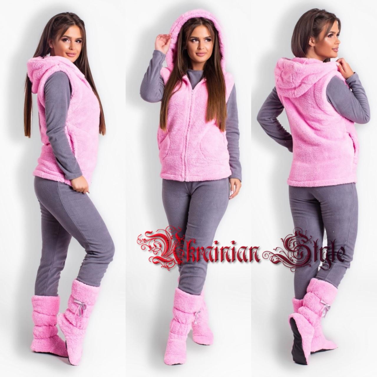 fe21083cd2de Женский теплый домашний комплект-пижама-четверка. Цвета!
