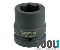 "Головка торцевая ударная шестигранная 1"" 30 мм Yato YT-1186"