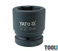 "Головка торцевая ударная шестигранная 1"" 38 мм Yato YT-1193"