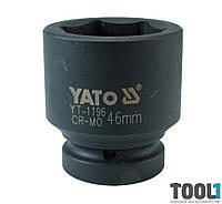 "Головка торцевая ударная шестигранная 1"" 46 мм Yato YT-1196"