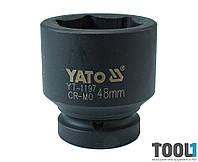 "Головка торцевая ударная шестигранная 1"" 48 мм Yato YT-1197"