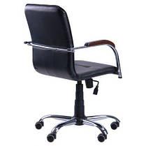 Кресло Самба-RC Хром орех Скаден черный без канта (AMF-ТМ), фото 3