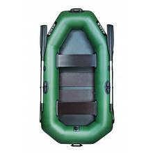 """Самая компактная  двухместная надувная лодка  ПВХ,  Ладья ЛТ-220-ДС с настилом, тип """"коврик"""""""