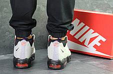 Подростковые кроссовки,термо Nike air max 95 Sneakerboot,осенние,серые с черным, фото 2