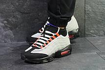 Підліткові кросівки,термо Nike air max 95 Sneakerboot,осінні,сірі з чорним, фото 2