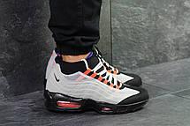 Підліткові кросівки,термо Nike air max 95 Sneakerboot,осінні,сірі з чорним, фото 3