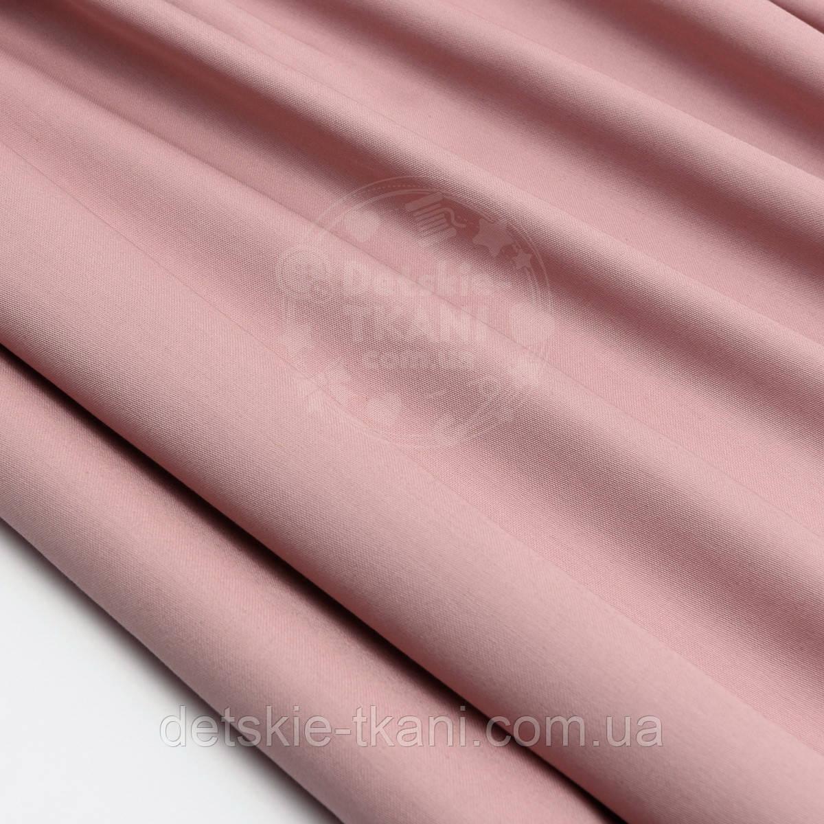 Сатин премиум, цвет тёмная пыльная роза, ширина 240 см (№1535)