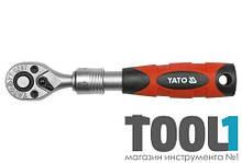 """Трещотка с телескопической ручкой 72 зубца 1/4"""" 150-200 мм Yato YT-0297"""