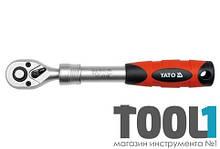"""Трещотка с телескопической ручкой 72 зубца 3/8"""" 215-315 мм Yato YT-0298"""