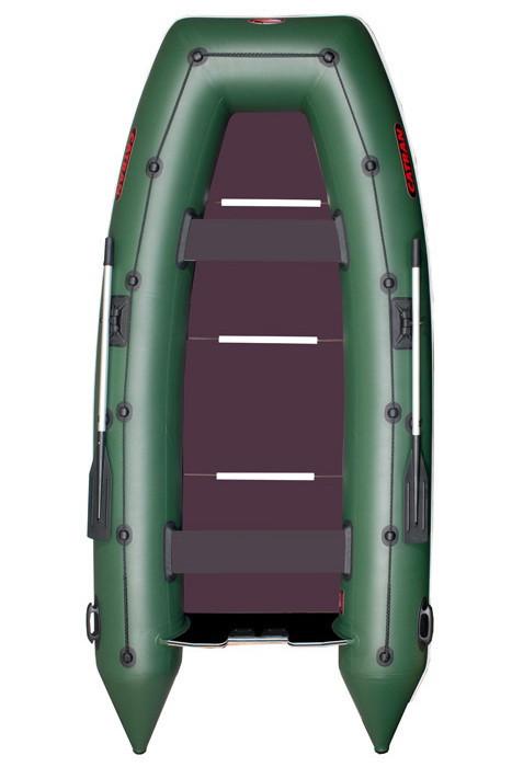 Четырехместная килевая  моторная лодка Катран C-350K