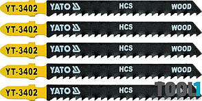Набор пилок для электролобзика 8TPI Yato YT-3402