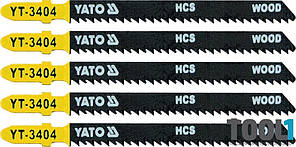 Набор пилок для электролобзика 10TPI Yato YT-3404