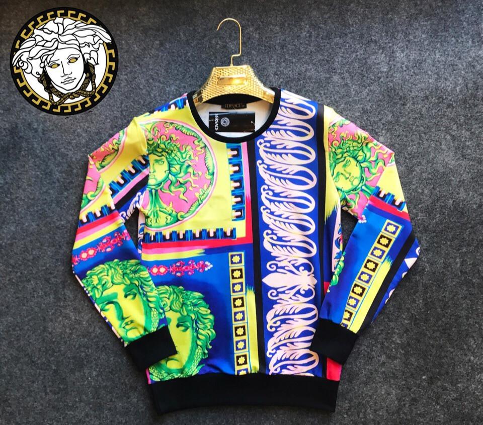 d60fa442f48 Мужской свитшот с принтом Versace - Интернет-магазин одежды и аксессуаров в  Киеве