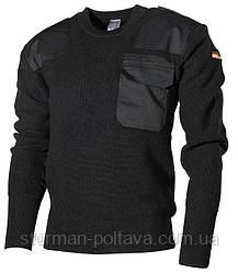 Свитер мужской шерстяной армейский BW 80/WOLLE 20/POLYACRYL Mil-Tec цвет  черный   Германия