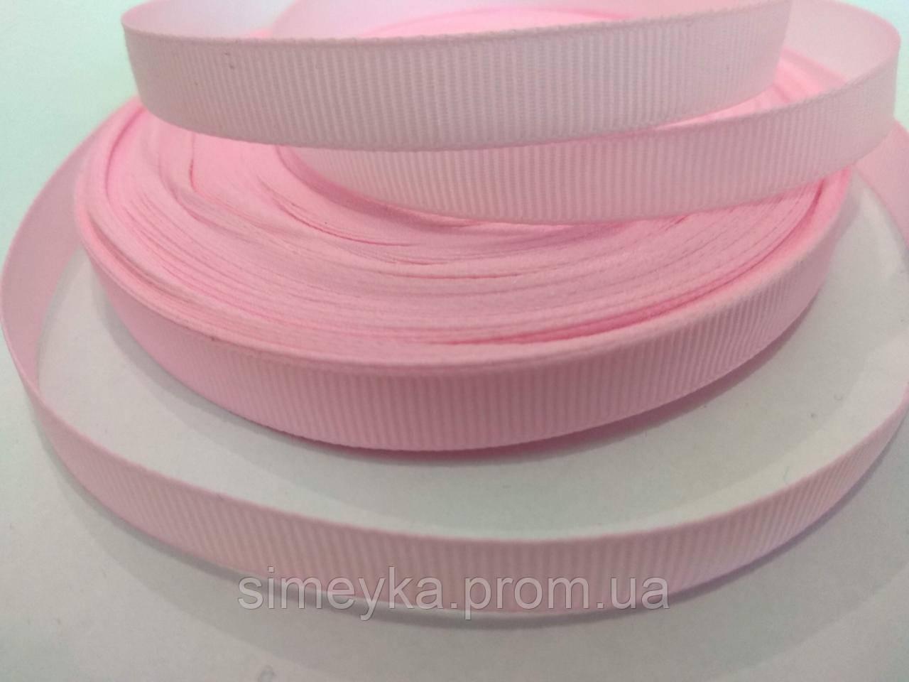 Лента репсовая 1 см. Нежно-розовая