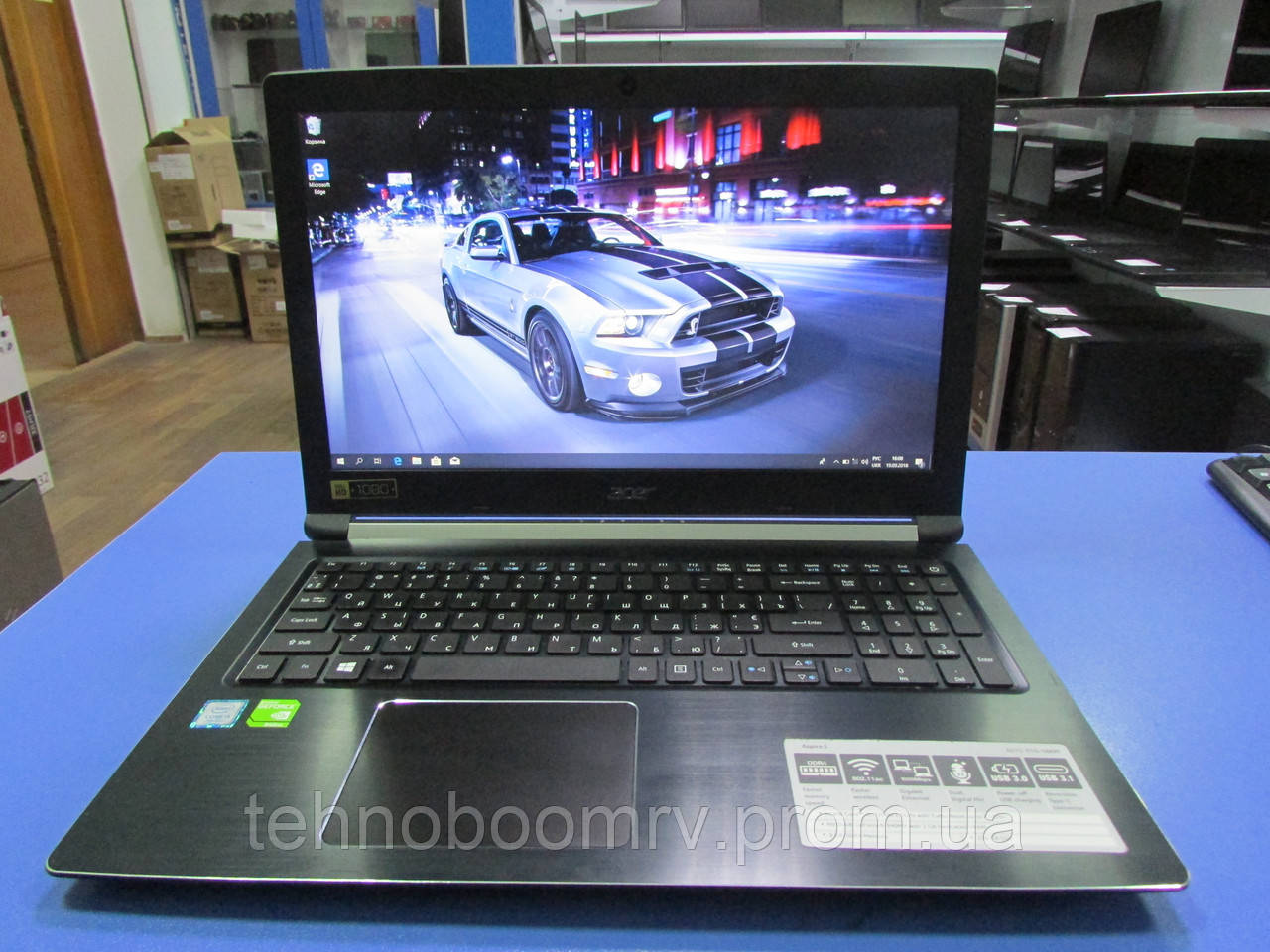 Ноутбук Acer Full-HD - Intel i5-7200U 3.1GHz/DDR4 8GB/SSD 256GB