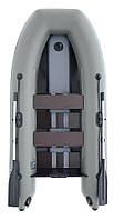 Надувная лодка Parsun 3м зеленая или светло-серая, широкий привальник