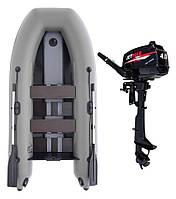 Комплект лодка Jetmar 3м серая + мотор T4