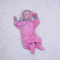 Человечек-пижамка Mini розовый, фото 1