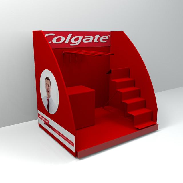 Рекламные стойки и конструкции Colgate