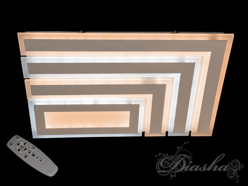 Потолочная плоская люстра прямоугольной формы MX2246-600+400 dimmer