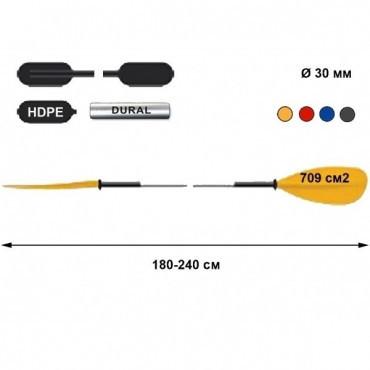 Весло для байдарок и каяков TNP 702.2 Asymmetric