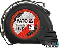 Рулетка с нейлоновым покрытием и магнитами 3 м х 16 мм Yato YT-7110
