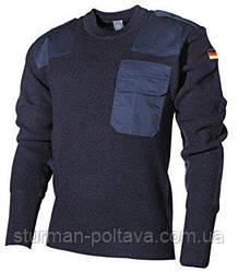 Светр чоловічий шерстяний армійський BW 80/WOLLE 20/POLYACRYL Mil-Tec синій колір Німеччина