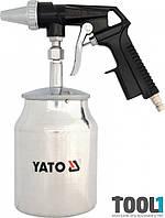 Пистолет для пескоструйной обработки компрессором 1 л Yato YT-2376