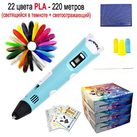 "Набор ""MYRIWELL 2 RP-100B VIP"" с бирюзовой 3D ручкой, фото 2"