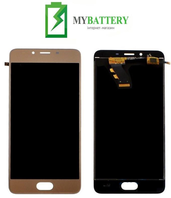 Дисплей (LCD) Meizu U10 (U680H) з сенсором золотий