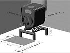"""Печь булерьян c варочной поверхностью """"Новослав"""" MONTREAL LUX (конфорка и стекло)18 кВт - 400 М3 Тип-02, фото 4"""