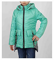 Куртка для девочки  683 весна-осень, размеры на рост от 122 до 140 возраст от 6 до 10 лет, фото 1