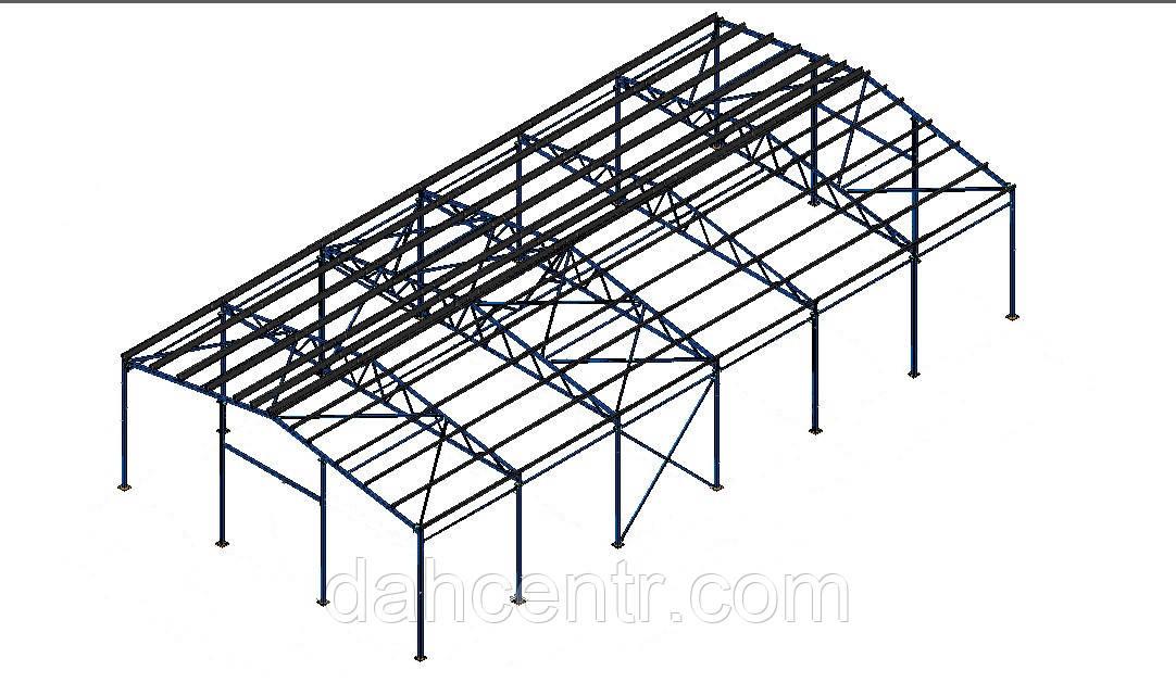 Склад 18х36 ангар, промышленное здание, цех, сто, навес,фермы, двускат