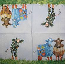 Декупажні серветки корови модниці 1312