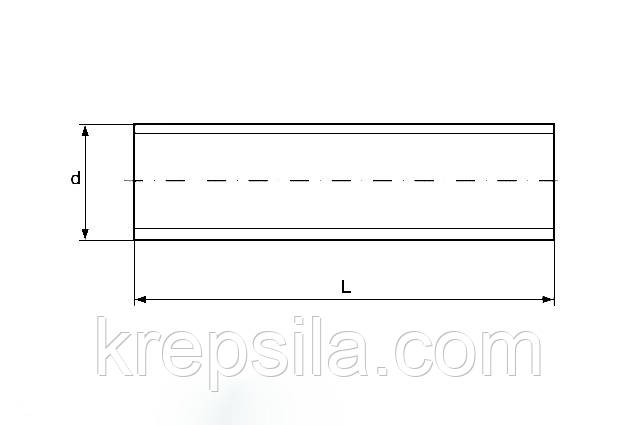 Шпилька резьбовая М20 DIN 975 оцинкованная - чертеж