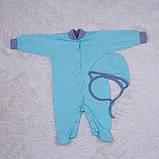 Комбинезон пижама Mini ментоловый, фото 2