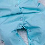 Комбинезон пижама Mini ментоловый, фото 4