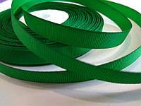 Лента репсовая 1 см. Зелёная, фото 1