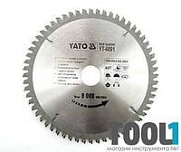 Диск пильный по алюминию 350х30х100 Yato YT-6099