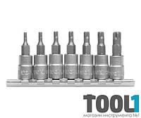 Набор головок с отверточными насадками Torx TS10-TS40 7 предметов Yato YT-0461