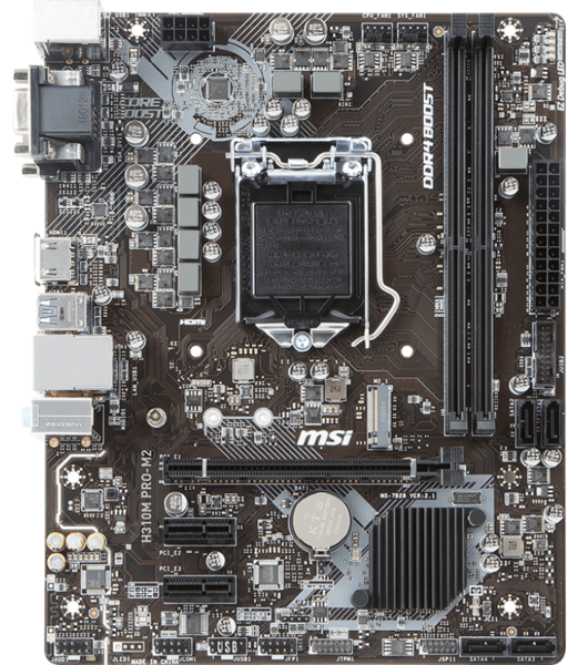 Материнская плата MSI H310M Pro-M2 (s1151, Intel H310) mATX