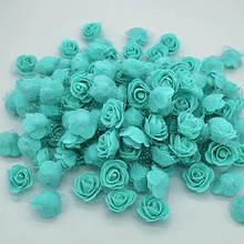 Набор бирюзовых цветочков - 50шт.