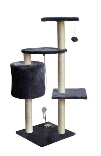 Дерево домик когтеточка когте точка драпак дряпка для кота кошки110см сіре
