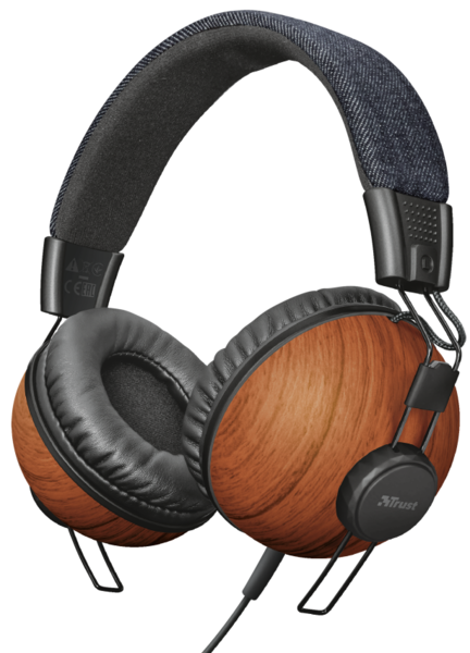 Гарнитура Trust Noma Headphones Denim Wood