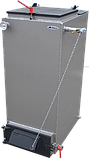 Котел Холмова шахтный твердотопливный 15 кВт Bizon FS с увеличенным бункером.Бесплатная доставка!, фото 2