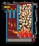 Котел Холмова шахтный твердотопливный 15 кВт Bizon FS с увеличенным бункером.Бесплатная доставка!, фото 8