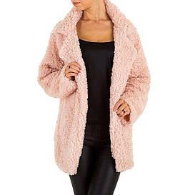 Пальто женское плюшевое Holala Gr.(Европа) - Розовый